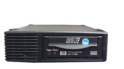 HP StorageWorks External Tape Drive DAT72 USB DW027A with tapes