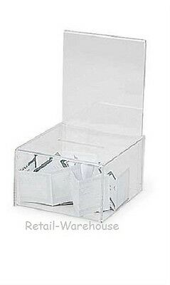 "Small Acrylic Ballot Box 7 ¼"" x 4 ½"" H x 8 ¼"" Raffle Box Clear Charity Donation"