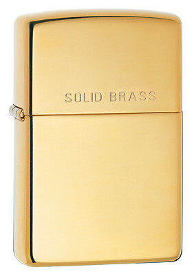 Zippo 254 Solid Brass High Polish NEW in box Windproof Lighter Free Shipping
