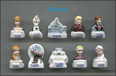 DISCONTINUED MINIATURE PORCELAIN FROZEN FIGURINES 2014, Olaf,Sven,Anna...‏