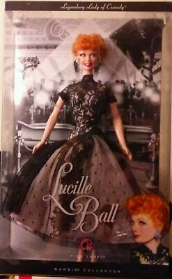 Lucille ball barbie pink label collectible doll 2008 mattel b37