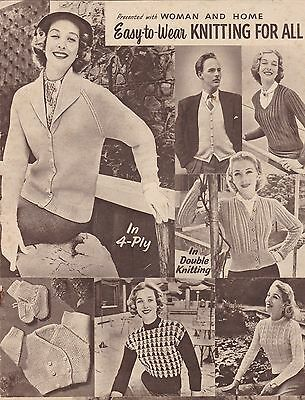 Vintage Woman & Home - Easy-to-wear Knitting for all - 4 ply patterns