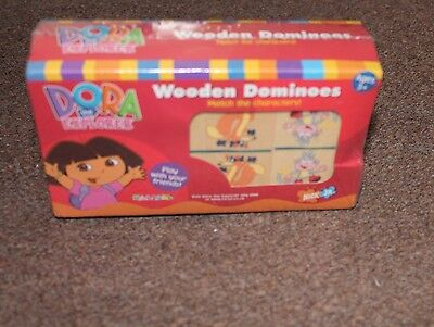 Dora the Explorer Wooden Dominoes Nickelodeon - New Unopened