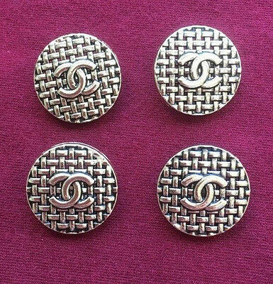 Chanel Buttons Set of 4 Light Metallic Gold Color 2.2cm (22mm)