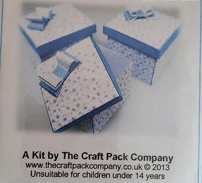 1/12th Scale Blue Square Hat Boxes Craft Kit