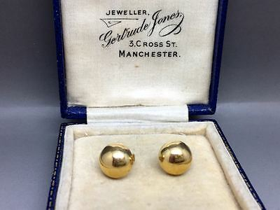 Lovely Large 9ct Gold Stud Earrings