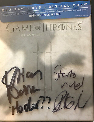 Game of Thrones: Complete Third Season (Blu-ray/DVD/Digital Copy) AUTOGRAPHED