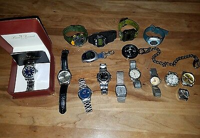 Lot of 16 Mens Vintage to Now Wear & Repair Watches