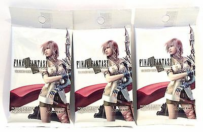 Final Fantasy Trading Card Game Opus 1  3x Sealed Booster Packs  ENGLISH EDITION