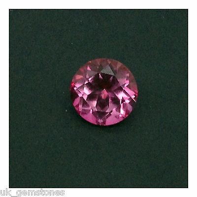 Natural Pink Topaz Round,  2.45ct,  IF Brazil,  8mm  Single Stone,