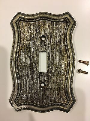 Vintage Antique Metal Brass Color  Wall Switch Plate Cover