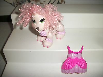 Fisher Price Snap N Style Pets French Poodle Dog Pink Hair Ears W Outfit Dress