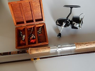8.5ft Hardy Fibalite 7/8lb 2pc Spinning Rod Outfit