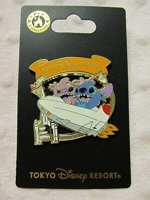 Disney Pin - Tokyo Disneyland Monthly Pin - Stitch & Angel - New