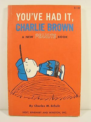 You've Had It Charlie Brown A New Peanuts Book Charles Schulz 1969 1St Ed