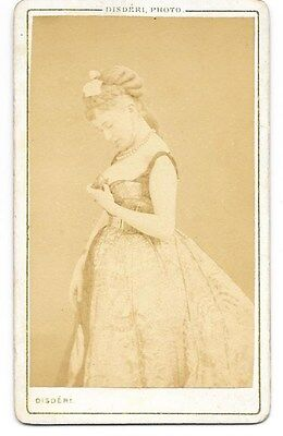 Cdv:  Cora Pearl--Most Famous Courtesan Of The French 2Nd Empire