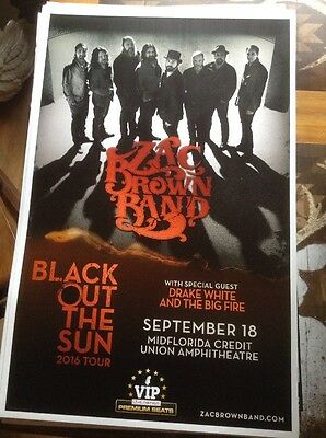 Zac  Brown Band Black Out The Sun Tour 2016 Poster