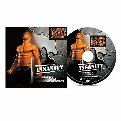 Insanity Fast Furious 20-Minute Workout DVD Effective Max Interval Training NEW