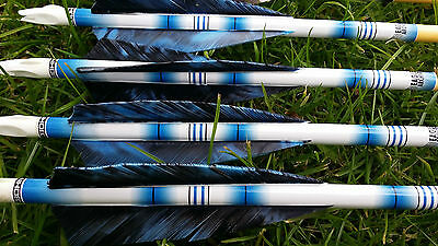 Archery Arrow wraps for longbow, recurve and traditional arrows - Blue