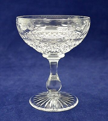 "Stuart Crystal ""BEACONSFIELD"" Champagne Glass - 11.3cms (4-1/2"") tall"