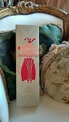 ANTIQUE Vtg deco box corset practical front sarong inc FOR DISPLAY PAPER