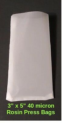 """ROSIN Extraction Press Bags-Nylon Filter 3"""" x 5"""" 40u micron 50 Pack"""