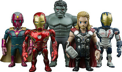 AVENGERS 2: Age of Ultron - Artist Mix Hot Toys Deluxe Boxed Figure Set (5) #NEW