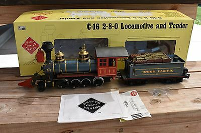 Aristocraft Union Pacific C-16 2-8-0 Steam Locomotive And Tender!! G Scale 80212