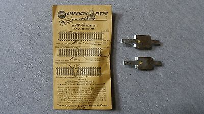 American Flyer S Gauge Pike-Master Track Terminals In Original Envelope  #26344