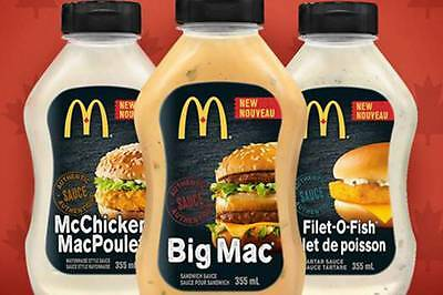 Canadian Mcdonalds Filet o fish sauce Canada official Fresh sealed
