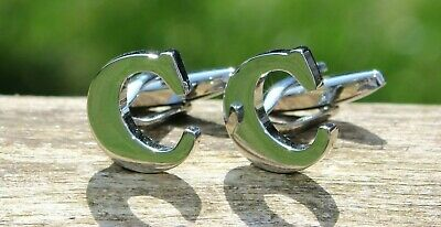 Men's Initial Letter C Cufflinks and Gift Box ~ Mens Novelty Formal Accessory