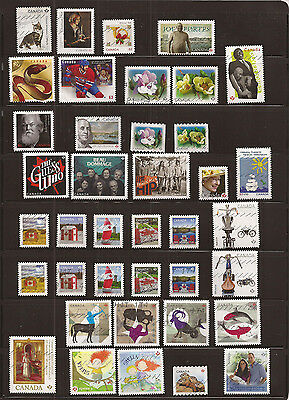 Canada 2013 collection of 39 nice used stamps