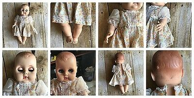 American Character Teeny Toodles 1950's 10.5in Molded Hair Blue Peek-a-boo Eyes