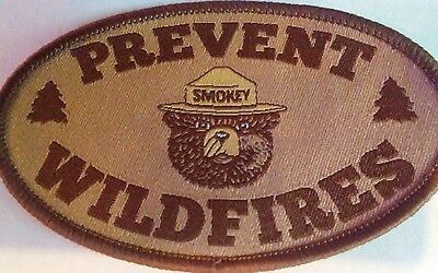 """Smokey's New For 2017 Patch . U.s.a.smokeys Message """"prevent Wildfires."""""""