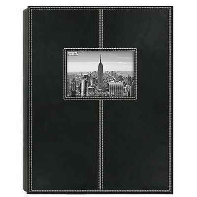 Pioneer Photo Albums 300-pocket Black Sewn Leatherette Frame Cover Album (Set...