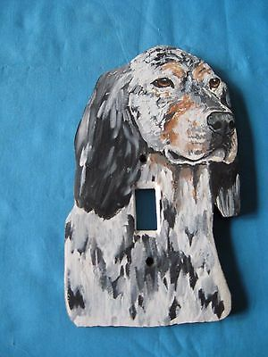 English Setter Wooden Handpainted Lightswitch Plate - New and Unique
