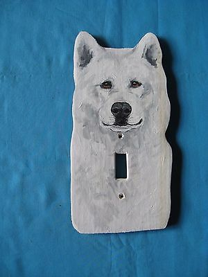 Akita Wooden Handpainted Lightswitch Plate - New and Unique by Susan Sweet