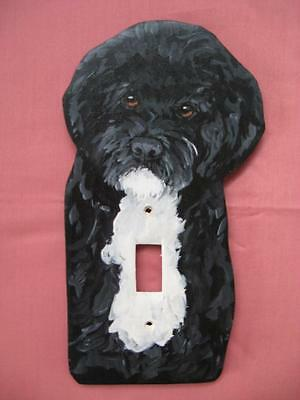 Portuguese Water Dog PWD Wooden Handpainted Lightswitch Plate - New and Unique