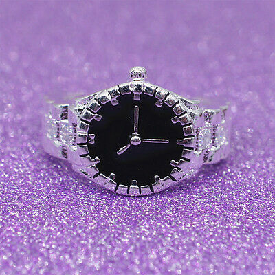 Creative Women Cute Pocket Finger Ring Watch Round Case Party Jewelry Gift Beamy