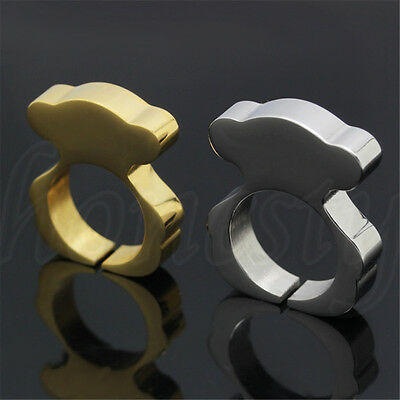Fashion Women Zinc Alloy Gold/Silver Bear Ring for Girl Jewellery Lovely Gift