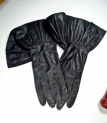 Alexette Bacmo Vintage Leather Gloves ~ Size 7