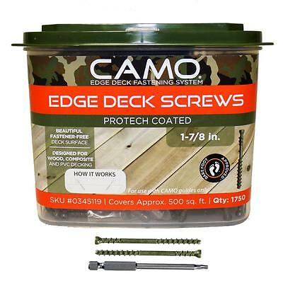 """Camo 0345119 1-7/8"""" Protech Coated Trimhead Deck Screw 1750-Count Fastening"""