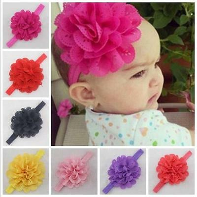 10PCS Band Kids Girl Baby Headband Toddler Bow Flower Hair Accessories Headwear
