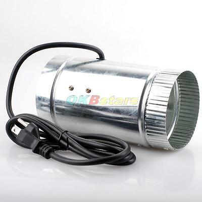 """4"""" Duct Fan Compatible W/4"""" Carbon Filter 110V/60Hz Ideal to Vent a Growing Area"""