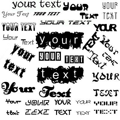 """7"""" YOUR TEXT Vinyl Decal Sticker Car Window Bumper CUSTOM Personalized Letter"""
