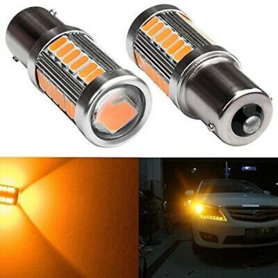2pcs Amber P21W 1156 BA15S Cree LED Bulb 5730 SMD Super Bright Car Light bulb