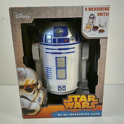 STAR WARS R2-D2 Droid Measuring Cups and Spoons Set Kitchen Homeware Utensil NEW