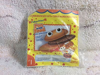 Mcdonalds Happy Meal Toy Fisher Price Fun With Food Hamburger Guy 1980s NOS