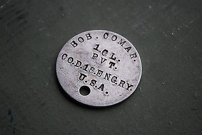 Wwi Dog Tag 1.cl. Pvt. Cod.18.eng.ry. Usa