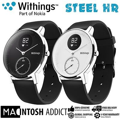Withings STEEL HR Bluetooth Heart Rate Monitor Fitness Activity Tracker Watch